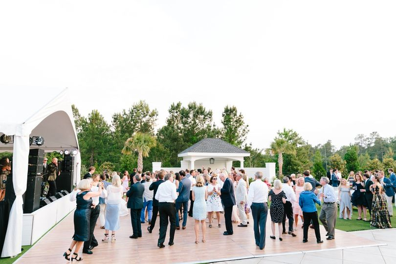 Band & Dance floor on the Lawn