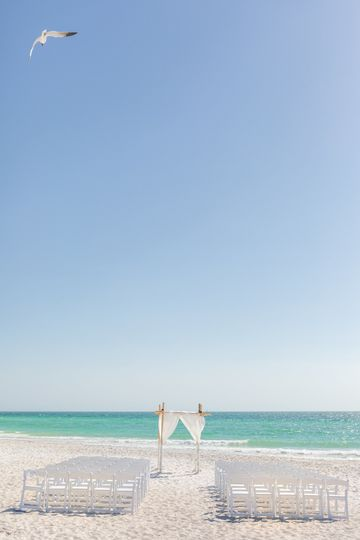 A beachfront ceremony