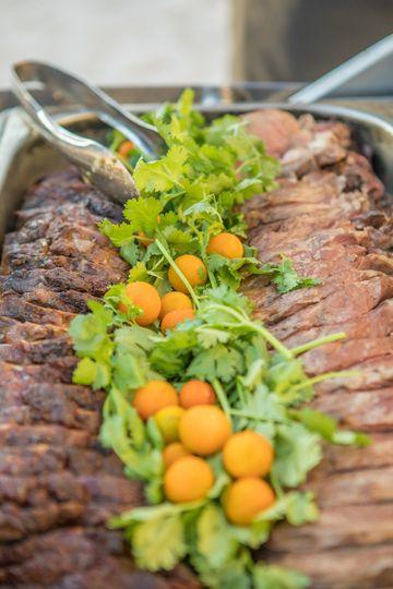 Succulent meat platter