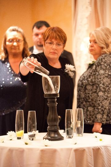 Unity glass ceremony