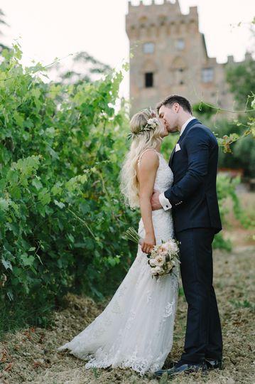 Tuscan vinyard wedding