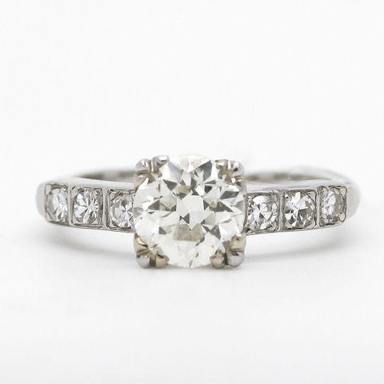 estate diamond engagement ring 1 point 3