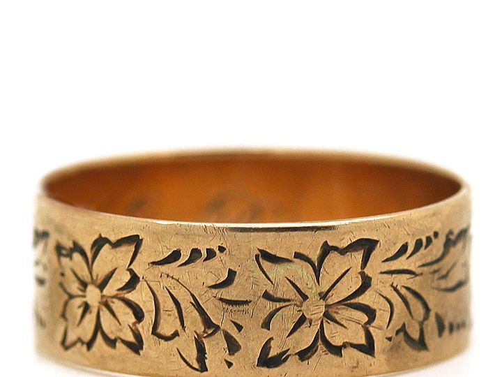 Tmx 1483022689329 Victorian Cigar Band In Pink Gold And Engraved Providence wedding jewelry