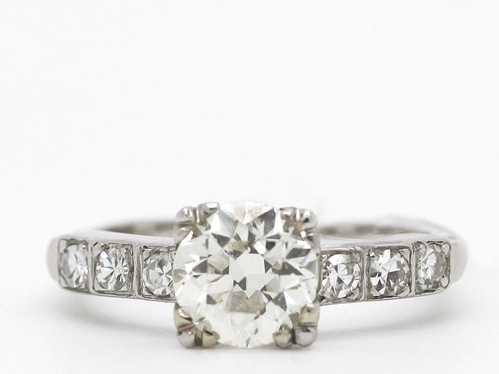 Tmx 1483022806416 Estate Diamond Engagement Ring 1 Point 3 Providence wedding jewelry