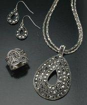 Tmx 1346090616217 Antiquelacemarcasiteset Bronx wedding jewelry