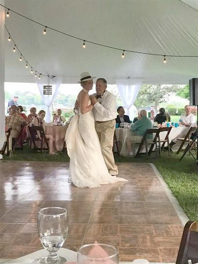 Dancing bride with her father