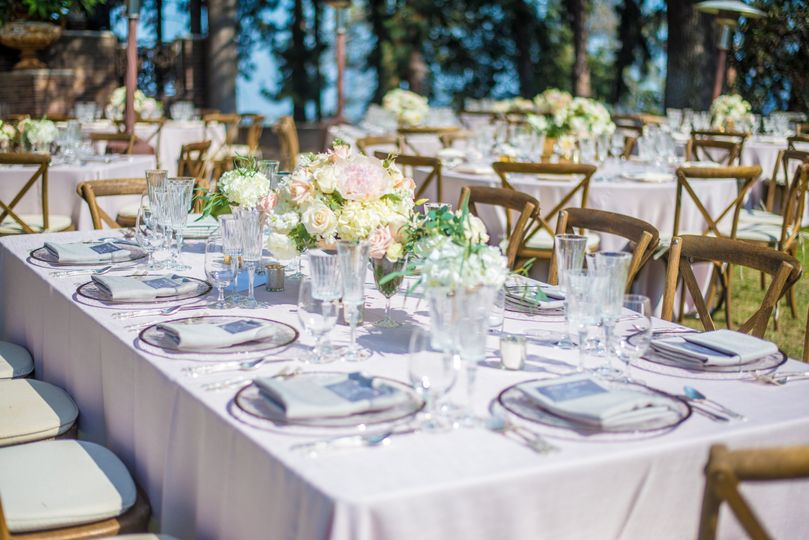 Rustic chairs and outdoor setup