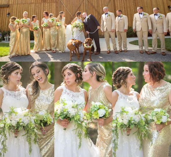 Bass Wedding- Bridesmaids bouquets