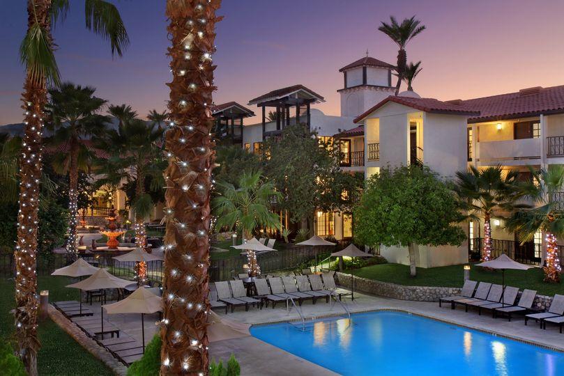 evening courtyard pool 51 649475 160033169139178