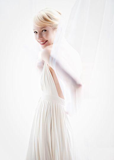 Bride in drapes