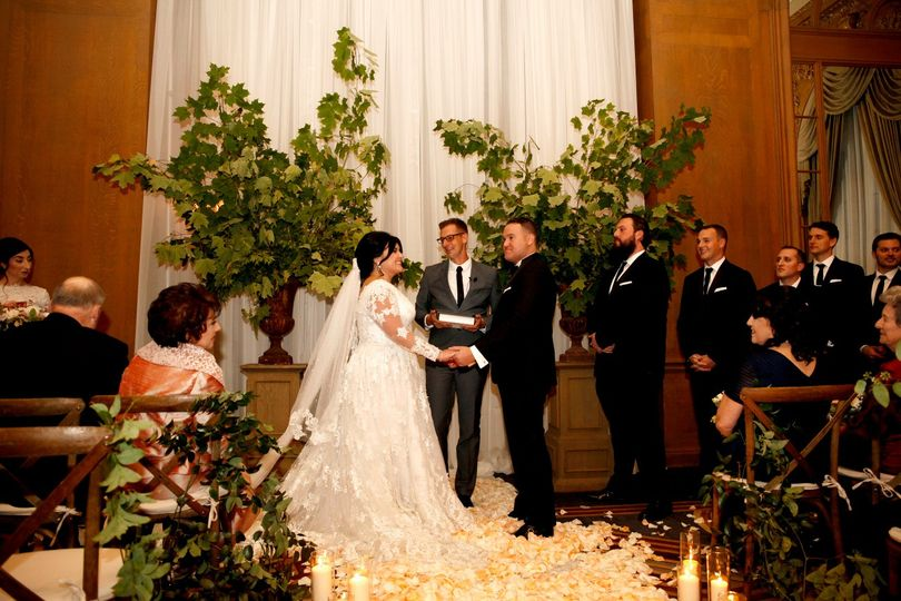 A lovely indoor ceremony