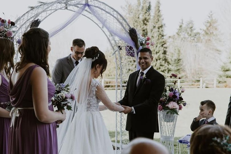 A lovely outdoor ceremony