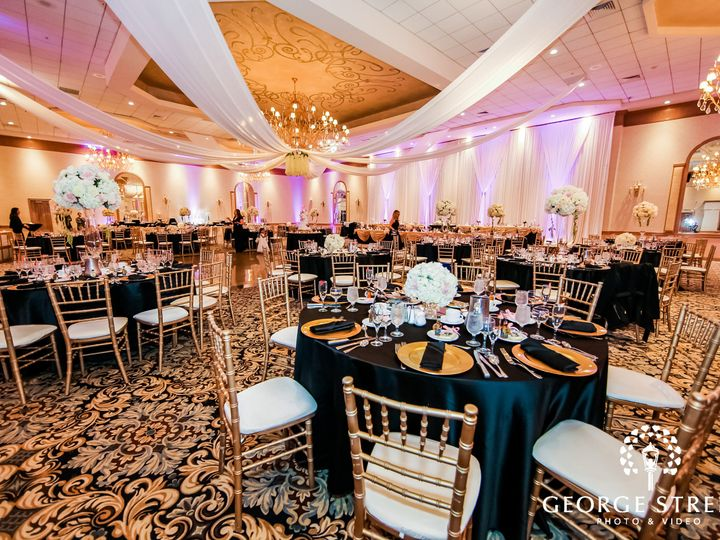 Tmx Wide View Of A Hall With Fall Ceiling And A Crystal Chandelier In The Middle Housing Reserved Tables Decorated With Cutlery And Flowers 51 53575 159493323751868 Rolling Meadows, IL wedding venue