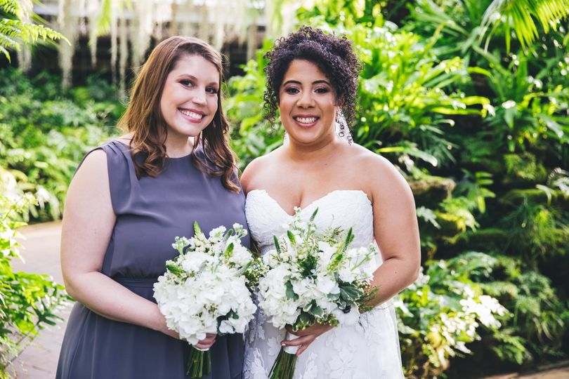 Bridesmaid and bride 2019