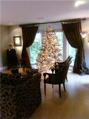 Christmas Tree in Entry Room at a Home Reception