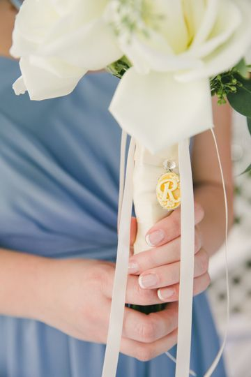 Bridesmaid bouquet marker