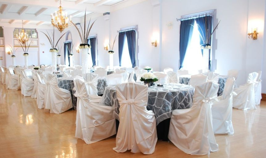 Ivory Satin Wrap Chair Covers