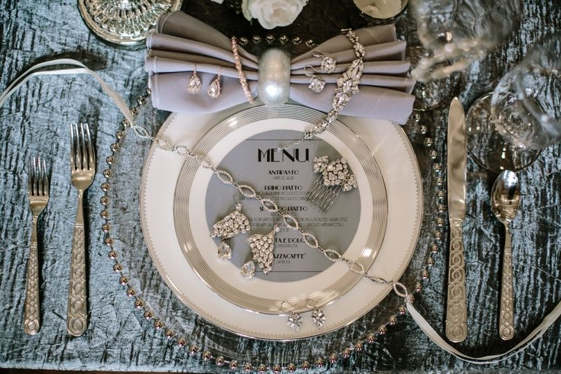 silver bling placesetting