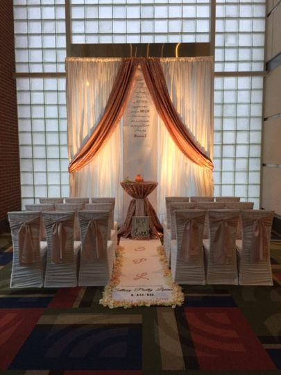white ruched leotard chair covers