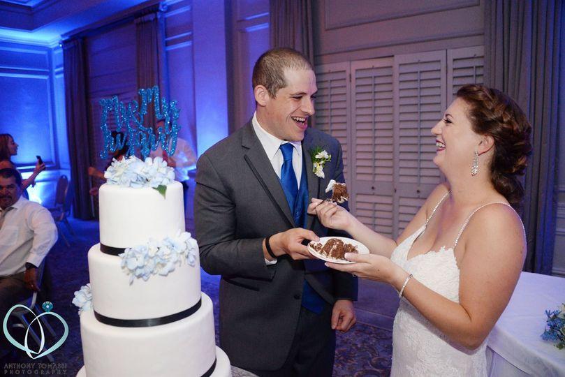 Having cake