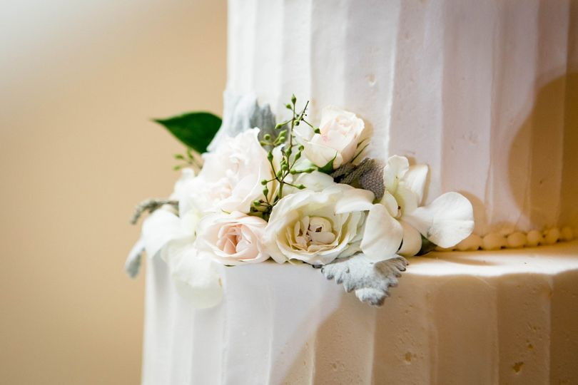 White rose decoration