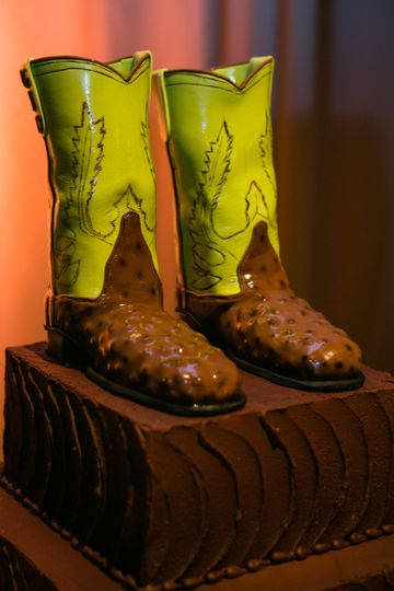 Shoe inspired cake