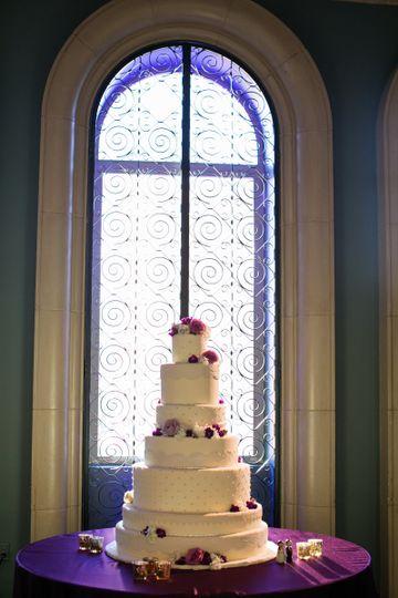 Wedding cake by the window