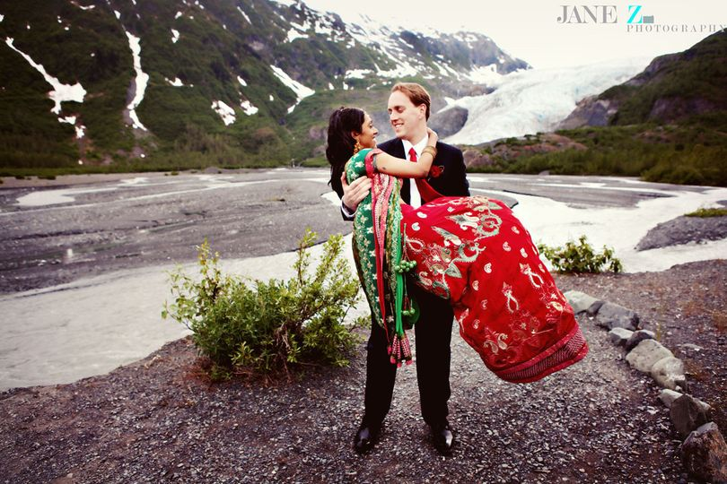 The Resurrection River Valley and Exit Glacier will give you several options for unique wedding...