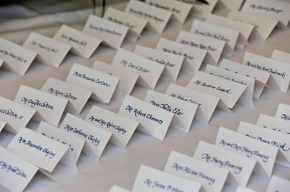 Place cards for the wedding
