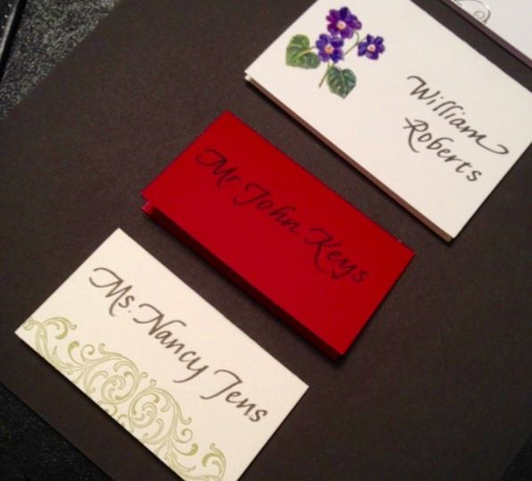 Place cards with three options