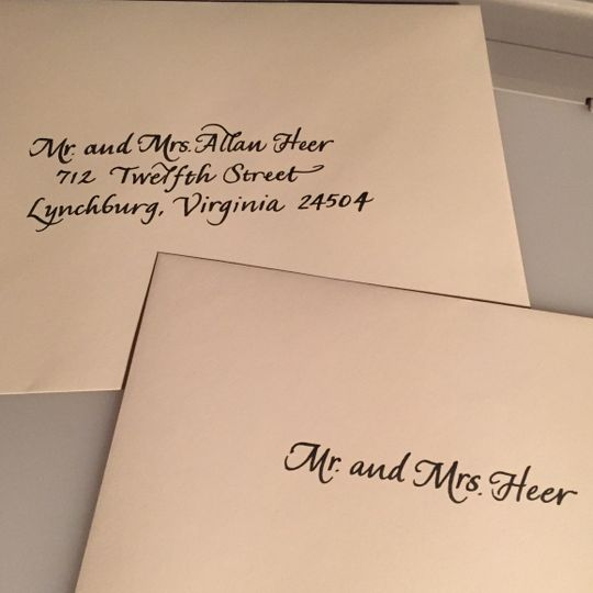 Calligraphy by Nancy Invitations Baltimore MD WeddingWire