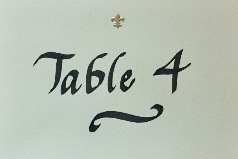 Table number four