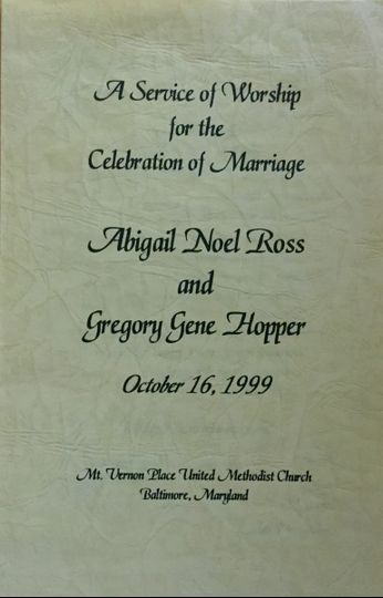 Front, wedding program
