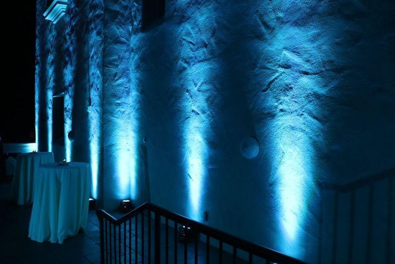 Uplights Prado Loggia Room