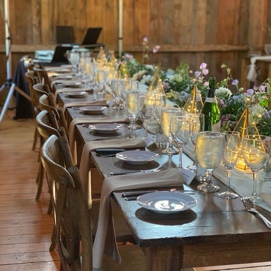 Table Setting in Buxton, Maine