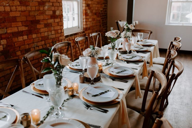 Table set for reception