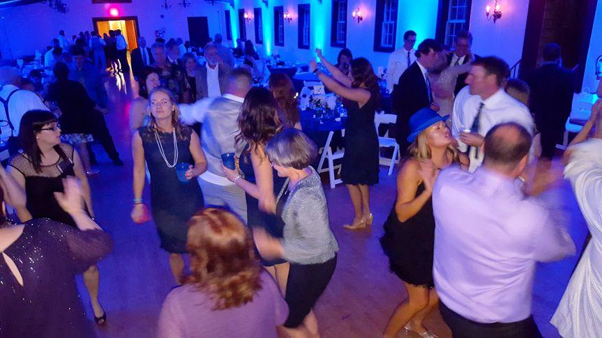 Uplighting and dancing