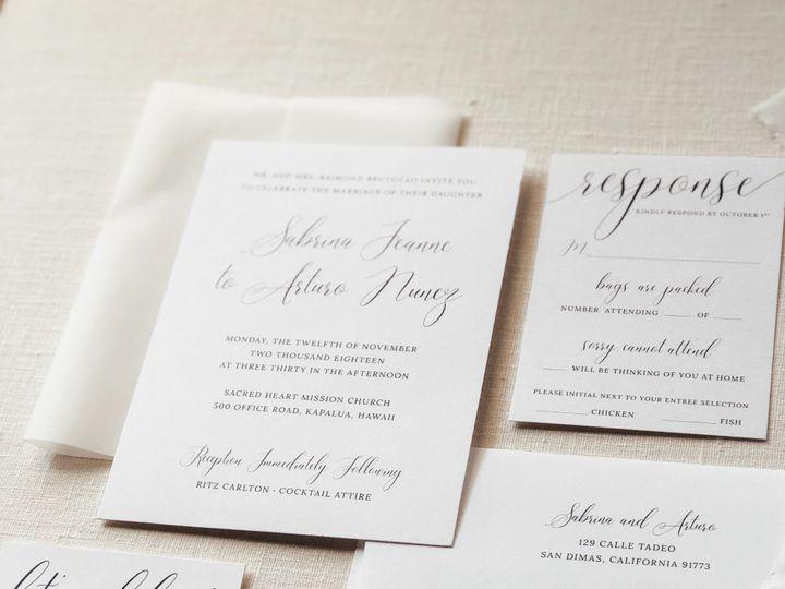 Tmx Img 7072 51 1069575 1559500718 San Juan Capistrano, CA wedding invitation