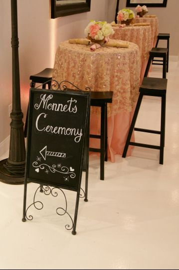 Ceremony Room Sign