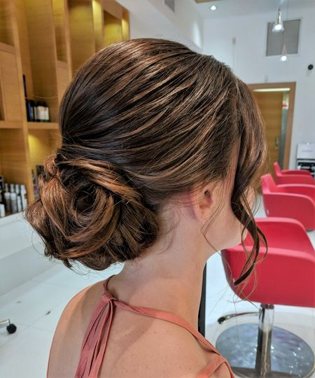 Updo for the bride