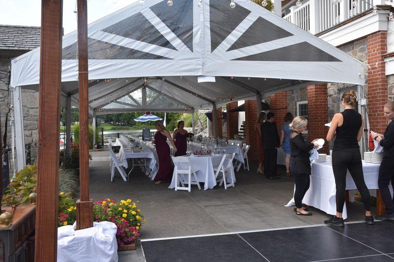 Wedding tent outside
