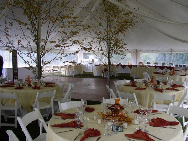 Fall Reception with unique decorations