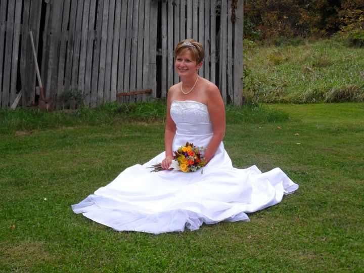 Bride by our Barn