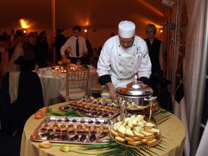 The chef preparing food