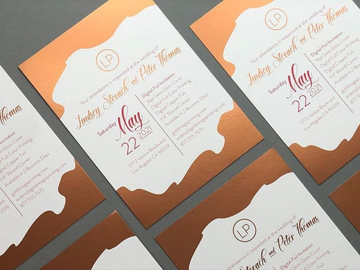 Tmx Digital Foil 51 1351675 158870710895790 Los Angeles, CA wedding invitation