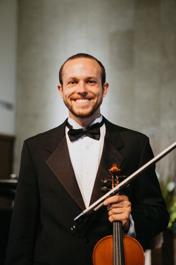 Happy musician