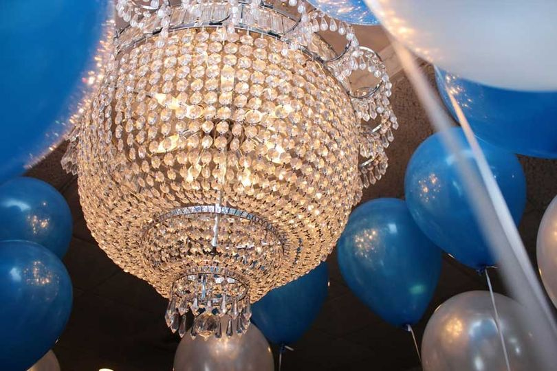 Chandelier in event