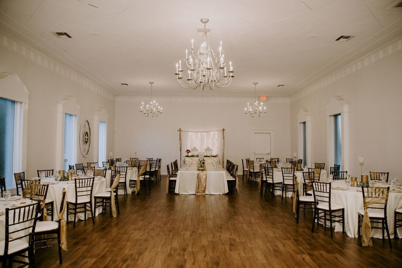 Reception set-up with rounds