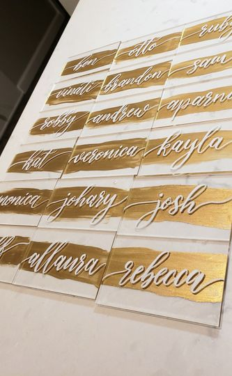 Custom place cards- by hand