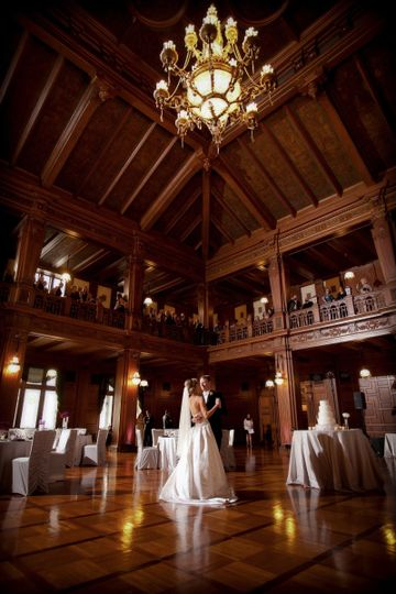 One of our favorite moments - your first dance while your guests are still on the Balcony for...